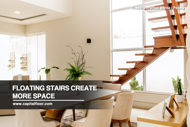 Floating stairs create more space