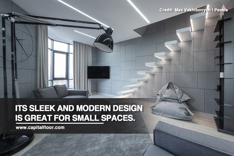Its sleek and modern design is great for small spaces.